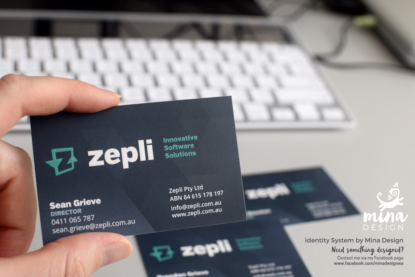 Zepli Business Cards by Mina Design