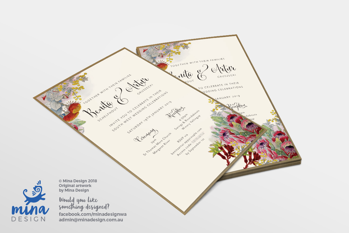 Wedding Invite for Benita & Artur