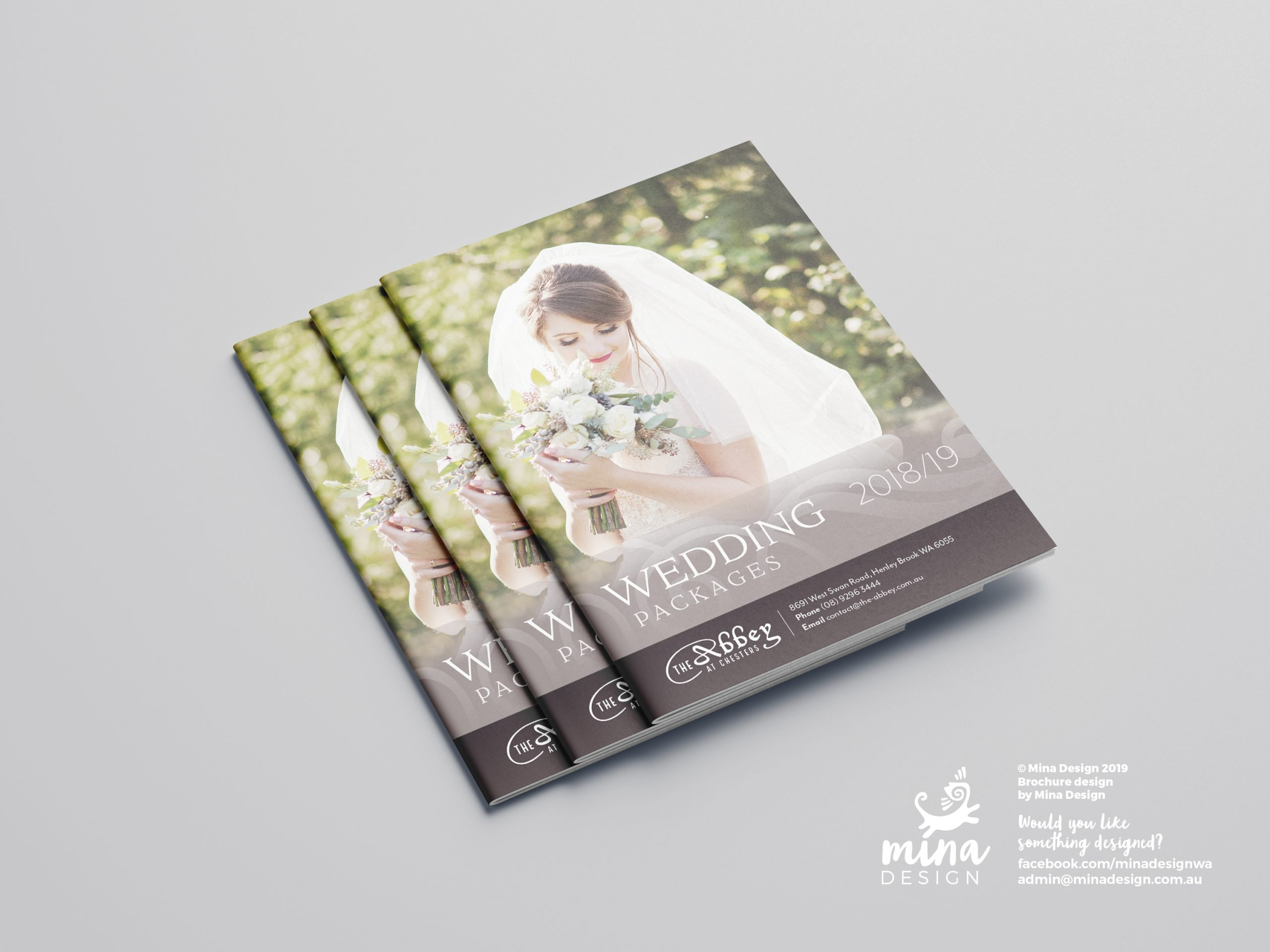 The Abbey A5 Brochure Front Page Mina Design
