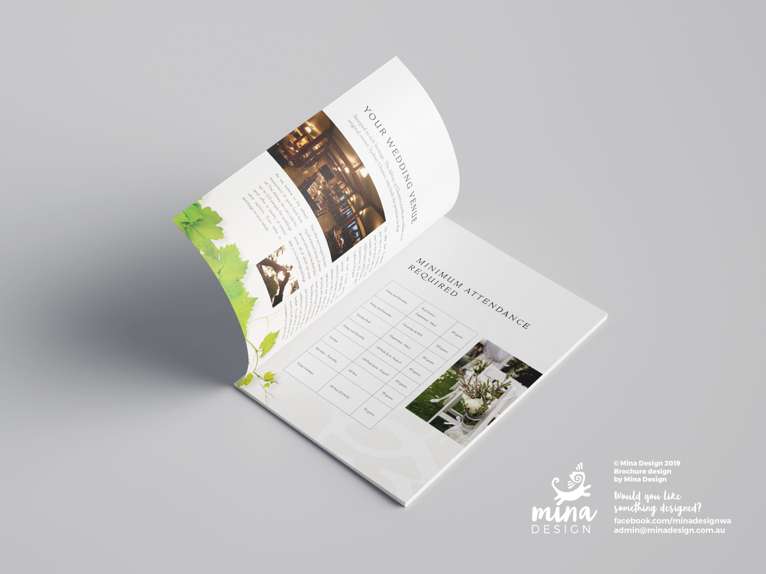 The Abbey A5 Brochure Pages 2-3 Mina Design