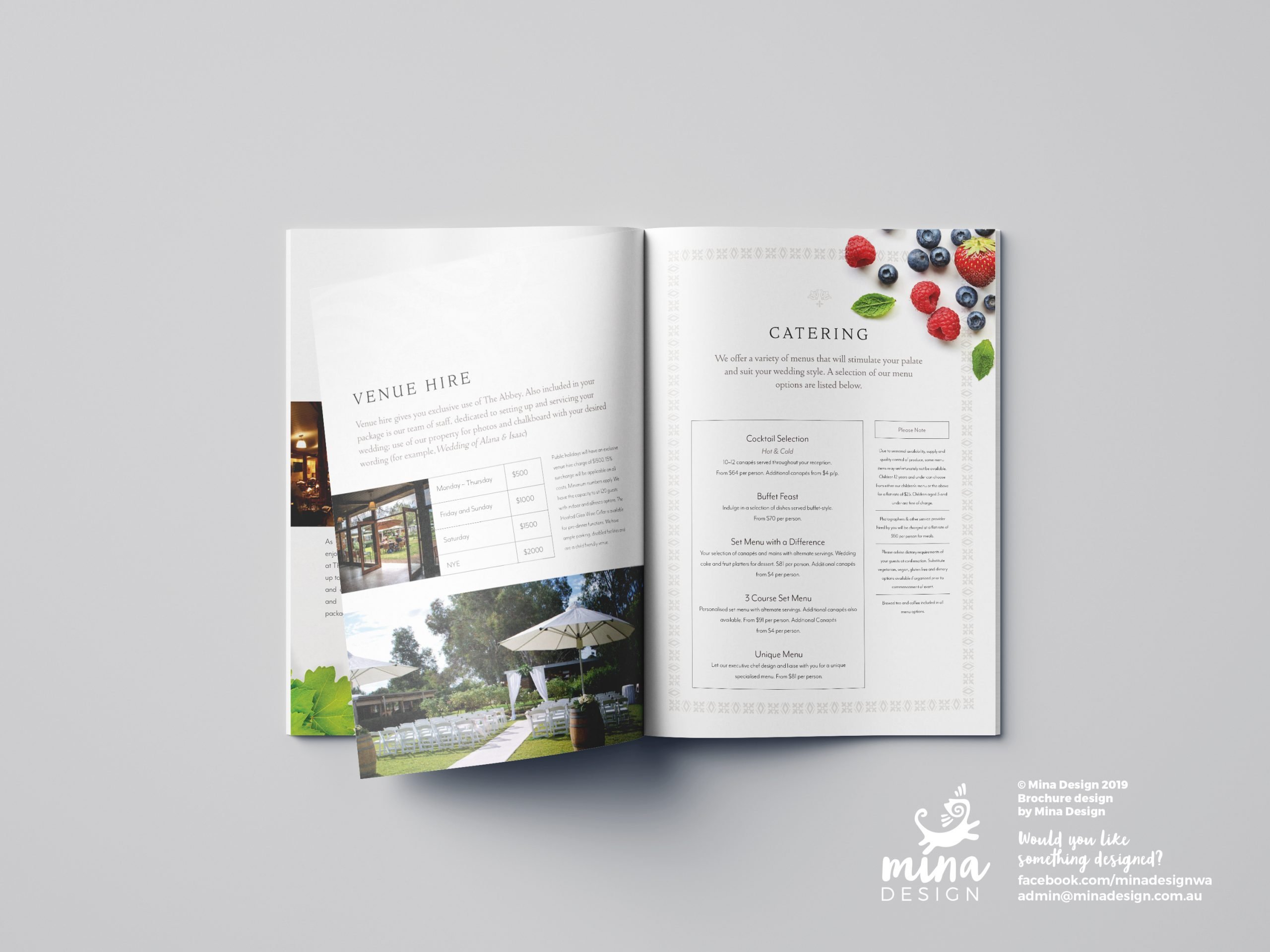 The Abbey A5 Brochure Pages 4-5 Mina Design