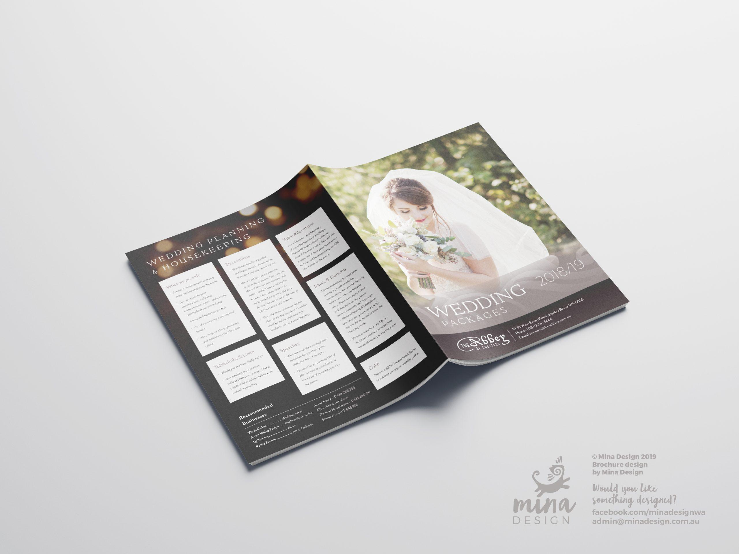 The Abbey A5 Brochure Back Page Mina Design
